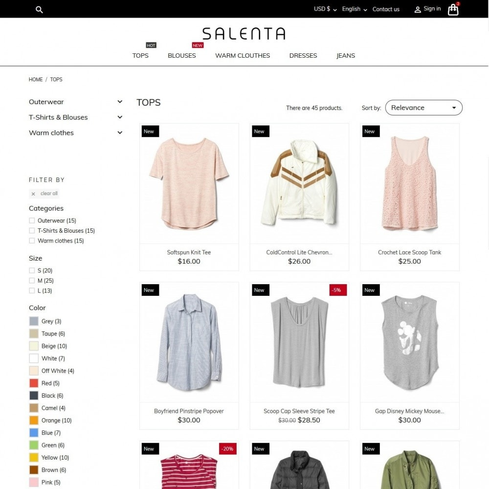 theme - Fashion & Shoes - Salenta Fashion Store - 5