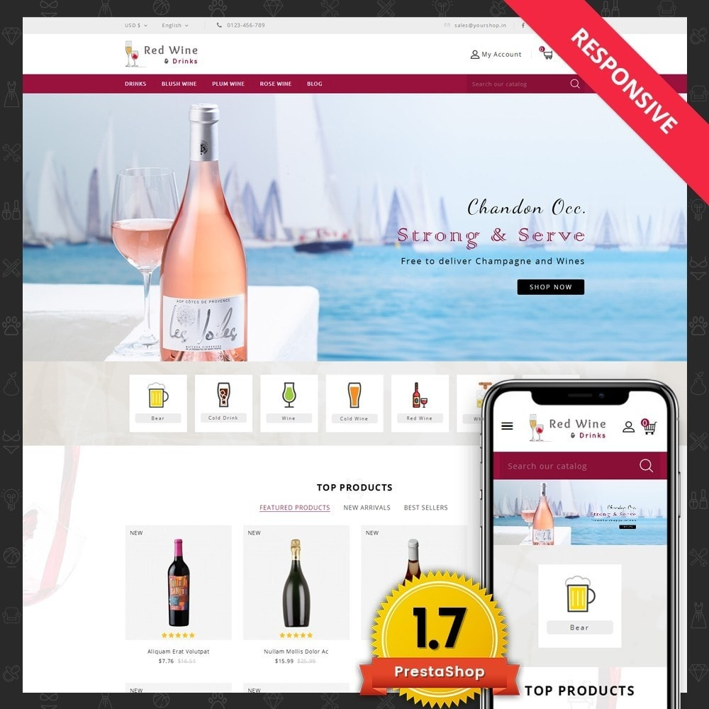Red Wine Online Store