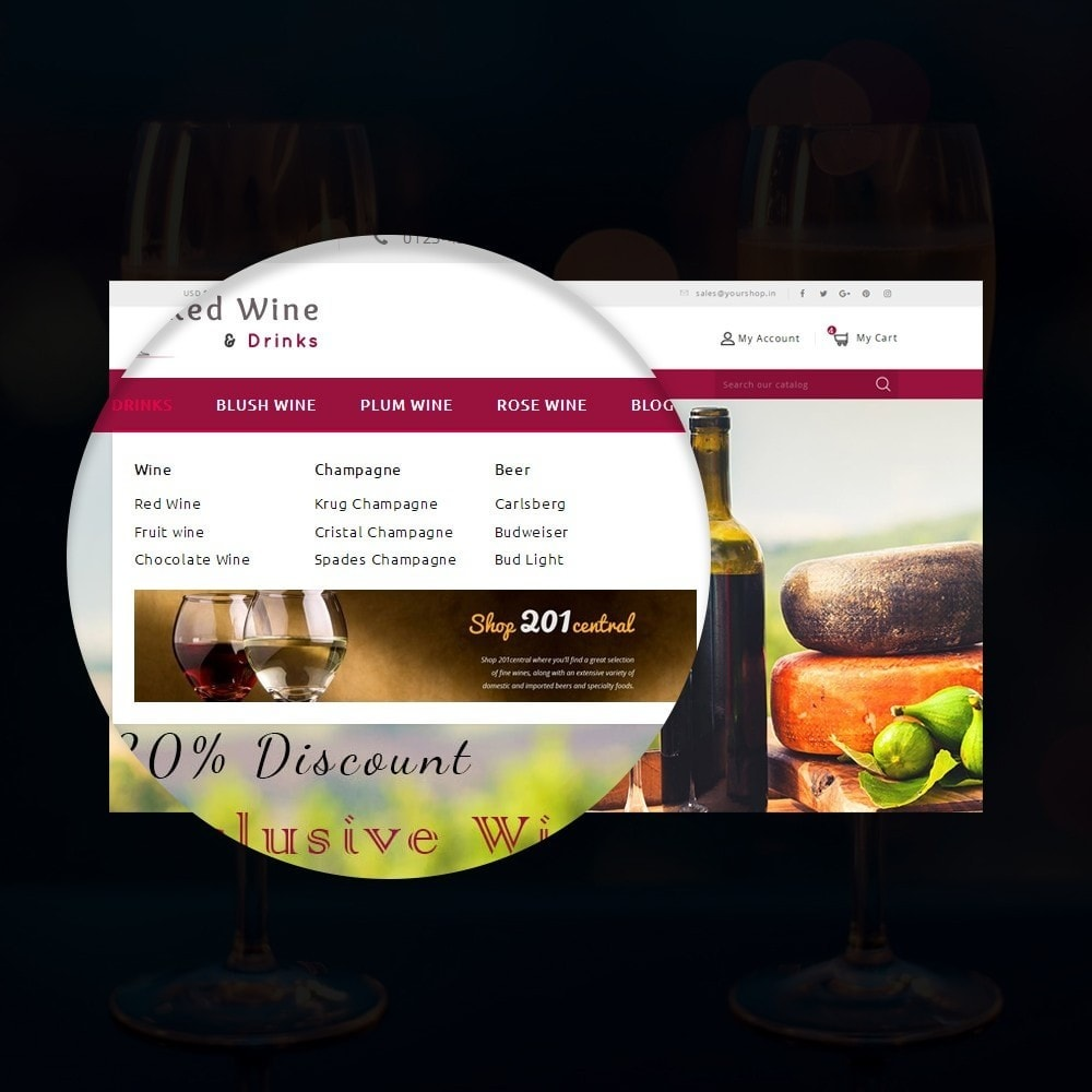 theme - Boissons & Tabac - Red Wine Online Store - 6