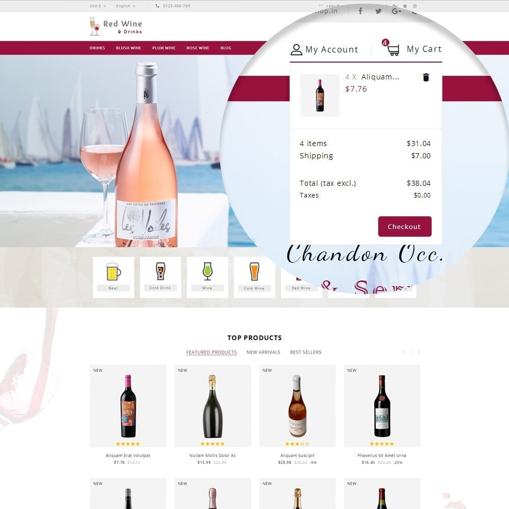 theme - Boissons & Tabac - Red Wine Online Store - 9