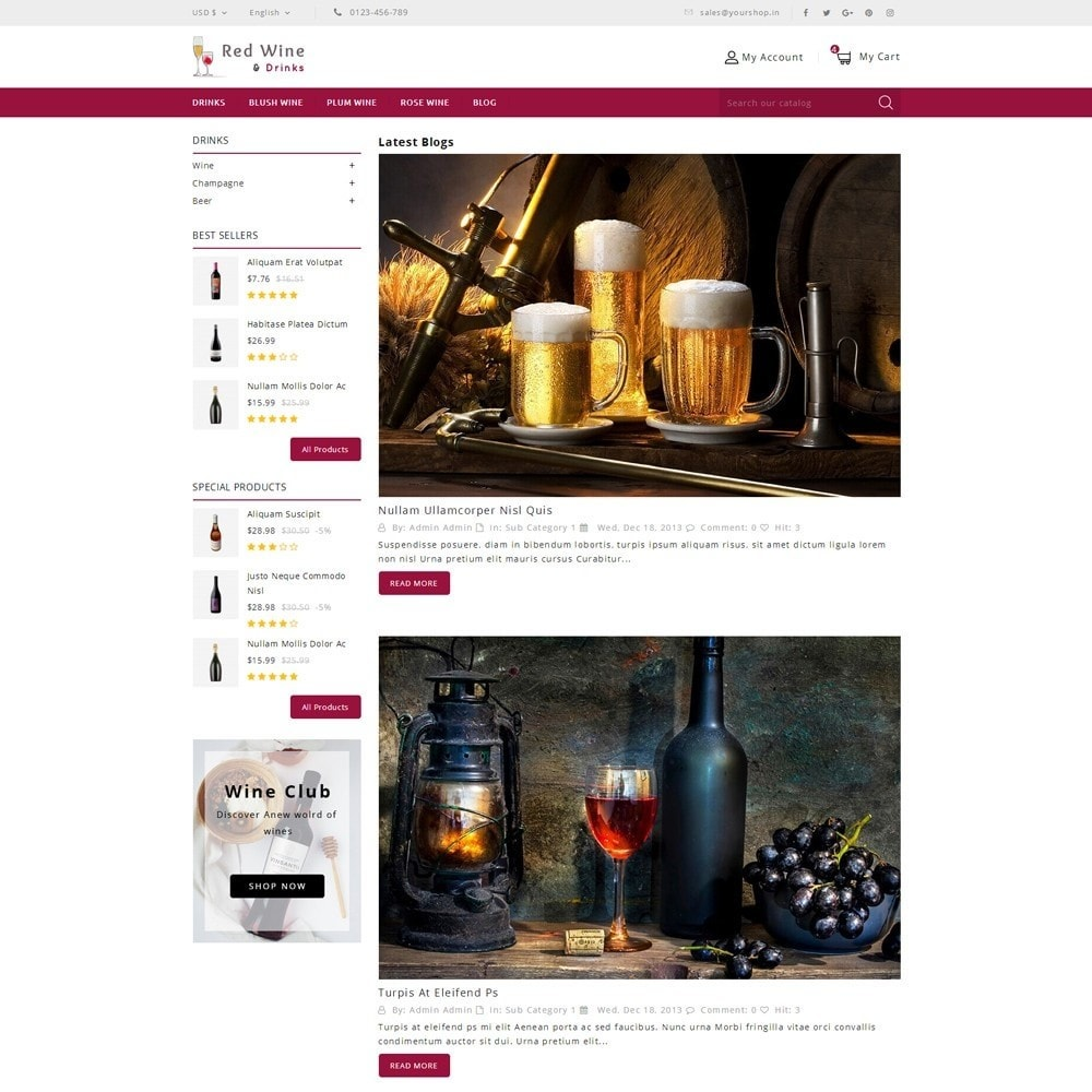 theme - Boissons & Tabac - Red Wine Online Store - 10