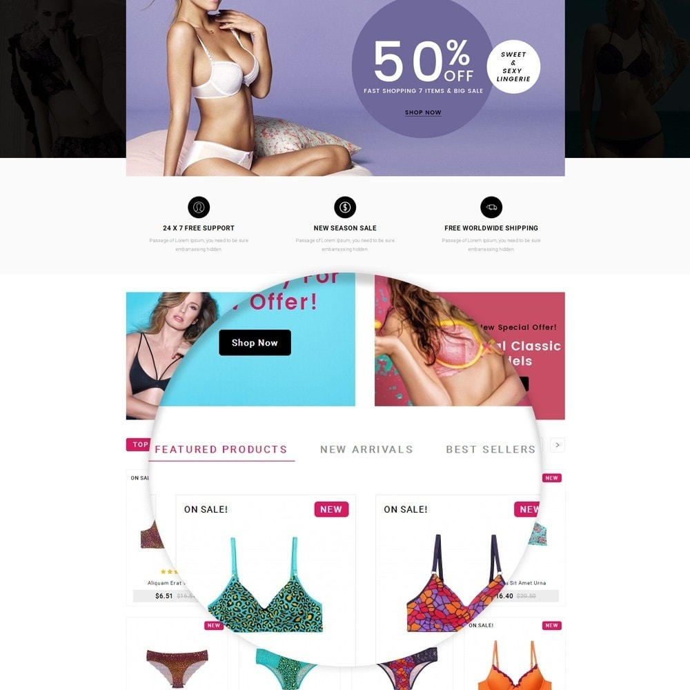 theme - Lingerie & Adulte - Flyzone Lingerie Store - 6