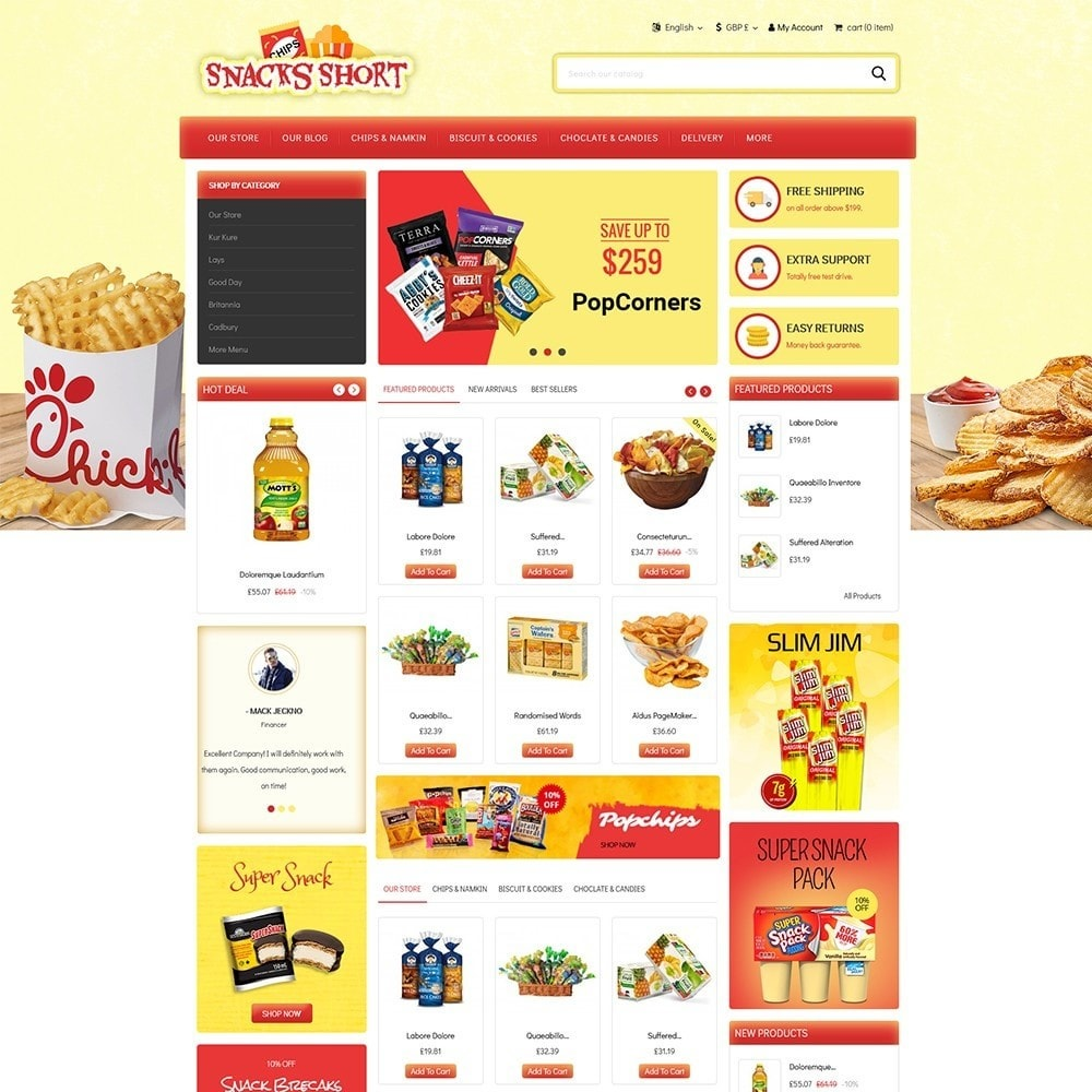 theme - Lebensmittel & Restaurants - Snacksshort Food Store - 2