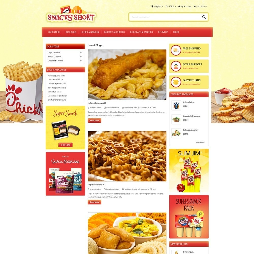 theme - Food & Restaurant - Snacksshort Food Store - 5