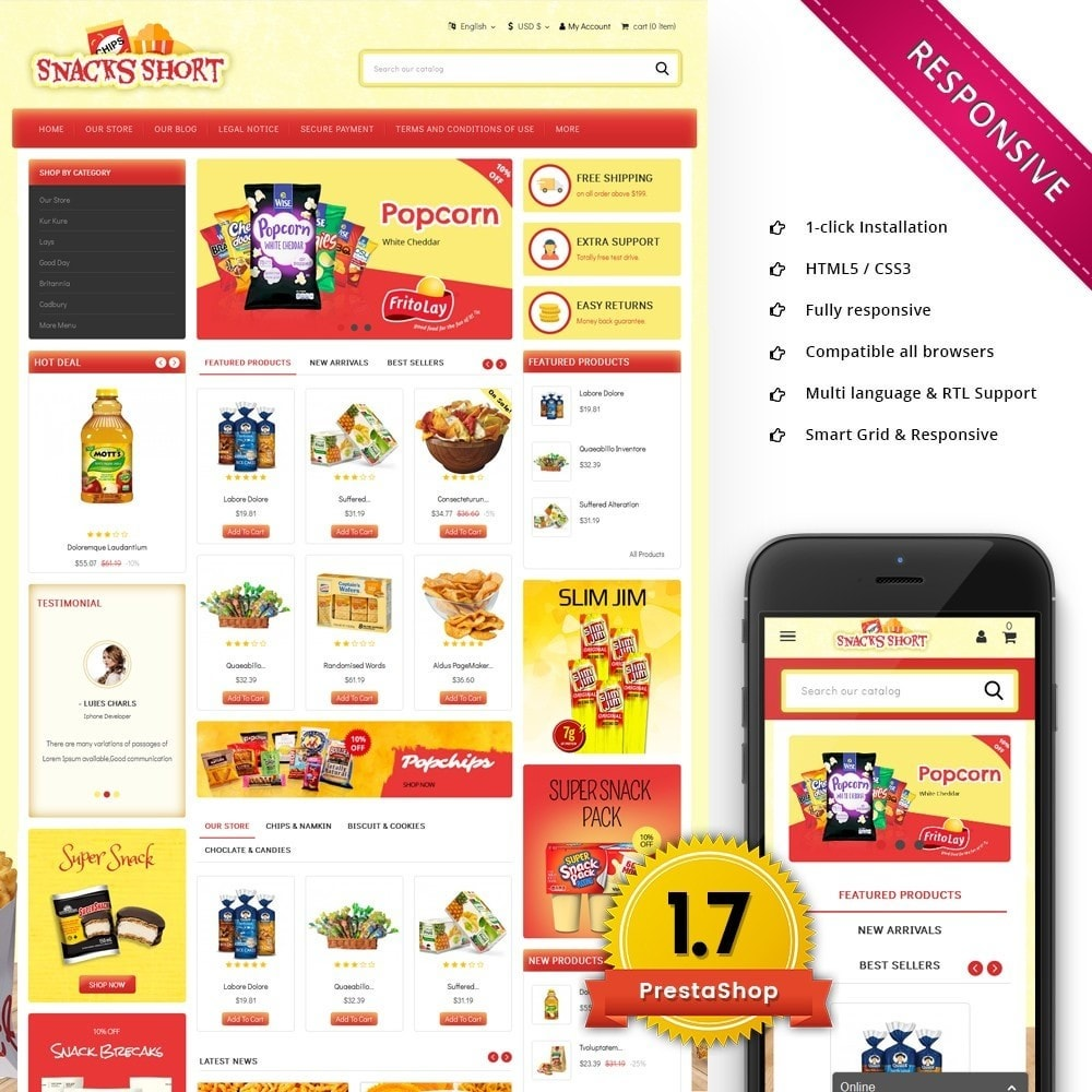 theme - Food & Restaurant - Snacksshort Food Store - 1
