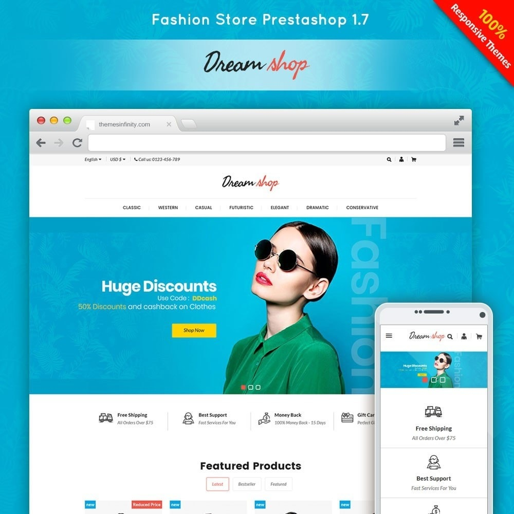 theme - Mode & Schuhe - Dreamshop - Fashion Online Store - 1
