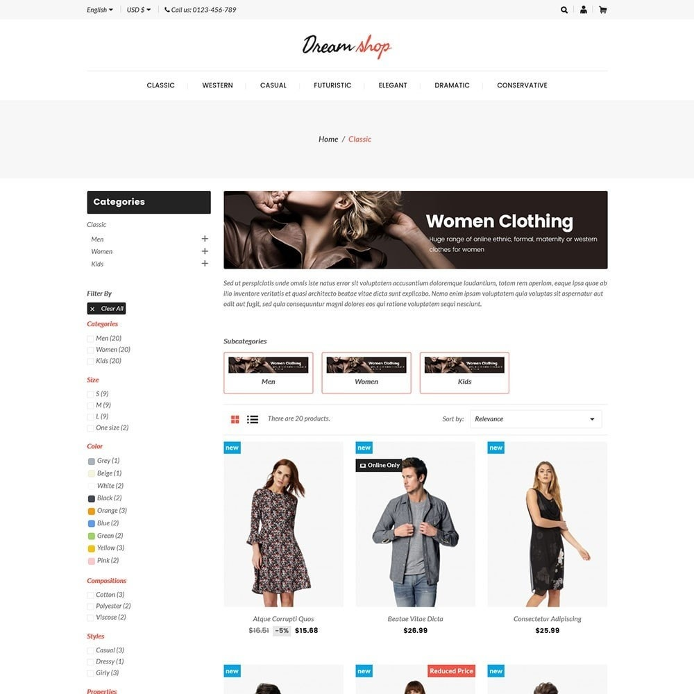 Dreamshop - Fashion Online Store