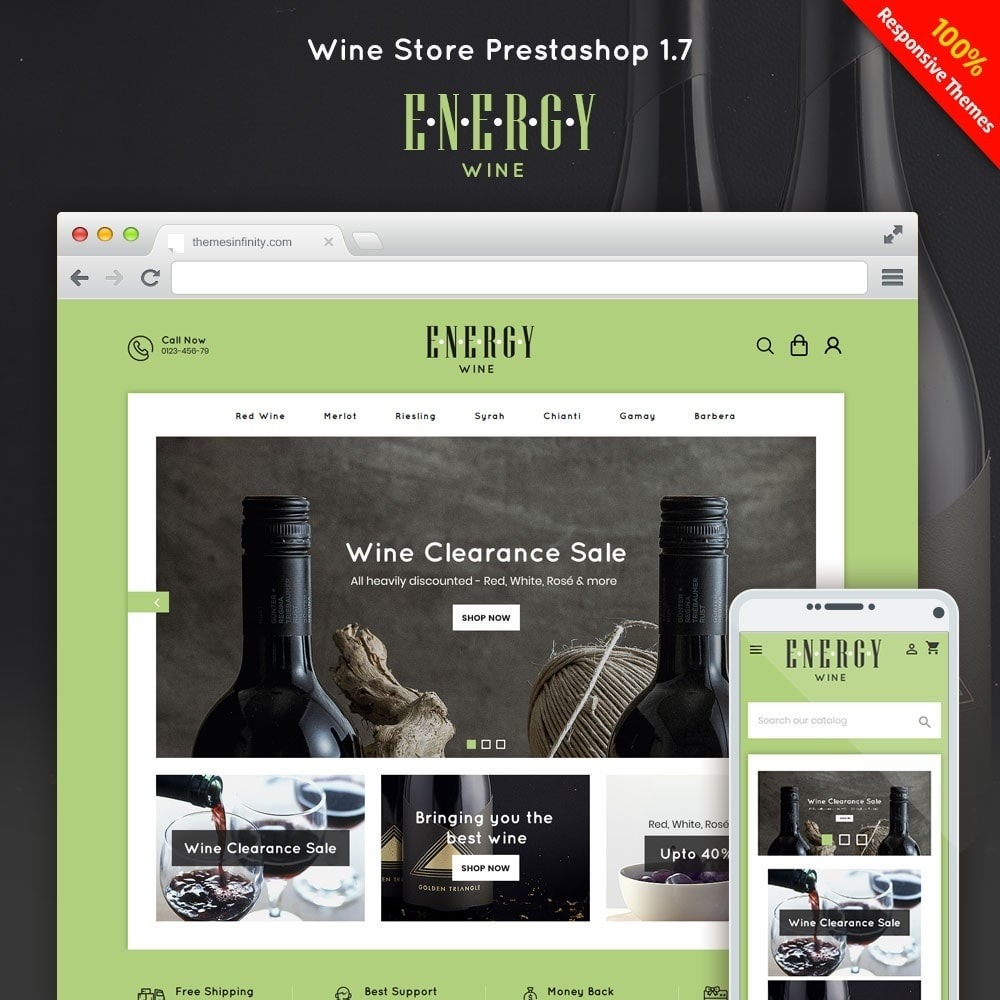 theme - Drink & Tobacco - Energywine - Wine Online Store - 1