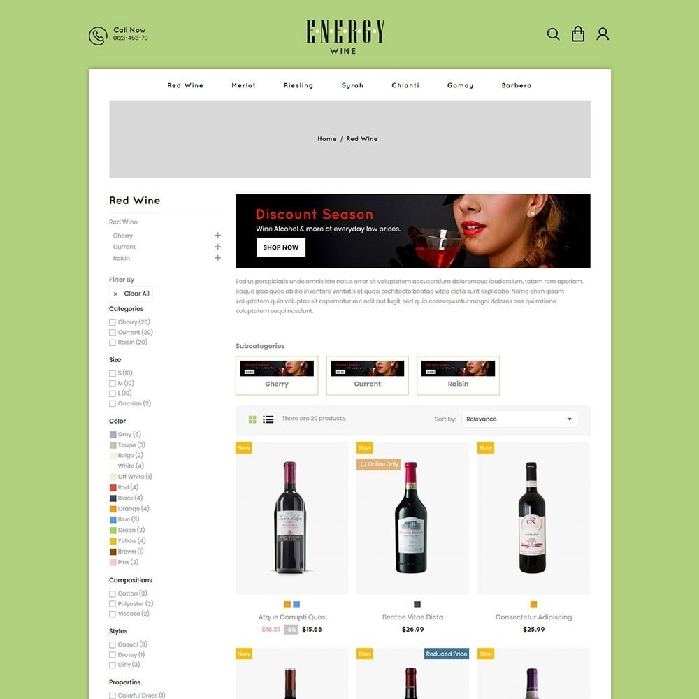 theme - Drink & Tobacco - Energywine - Wine Online Store - 3