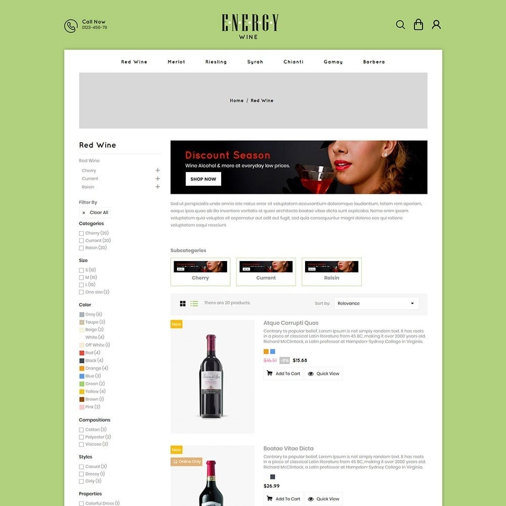 theme - Drink & Tobacco - Energywine - Wine Online Store - 4