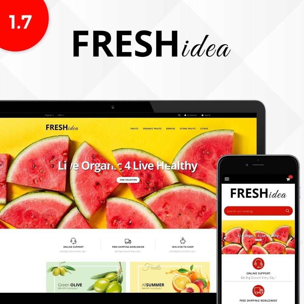 theme - Alimentation & Restauration - Fresh Fruit Store - 1