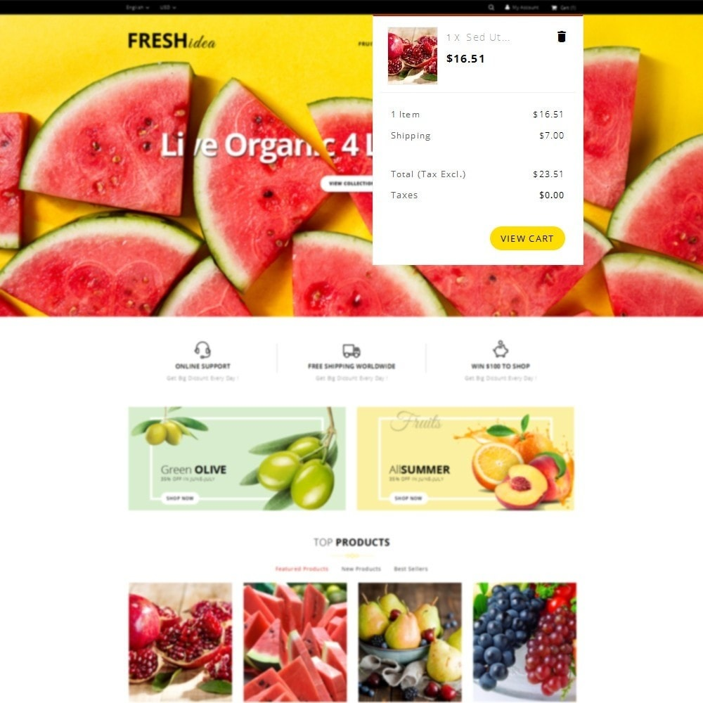 theme - Alimentation & Restauration - Fresh Fruit Store - 8