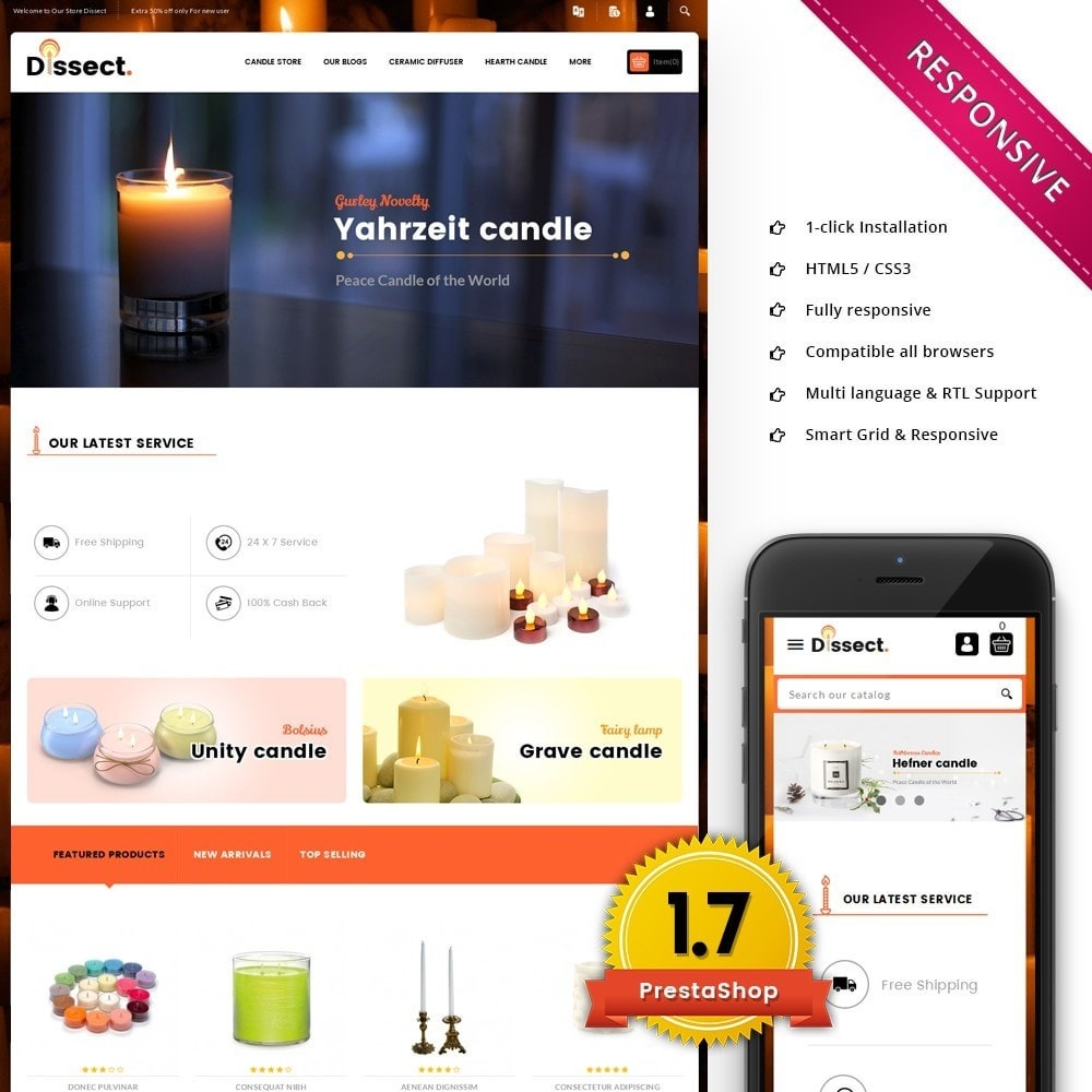 theme - Casa & Jardins - Dissect Candle Store - 1
