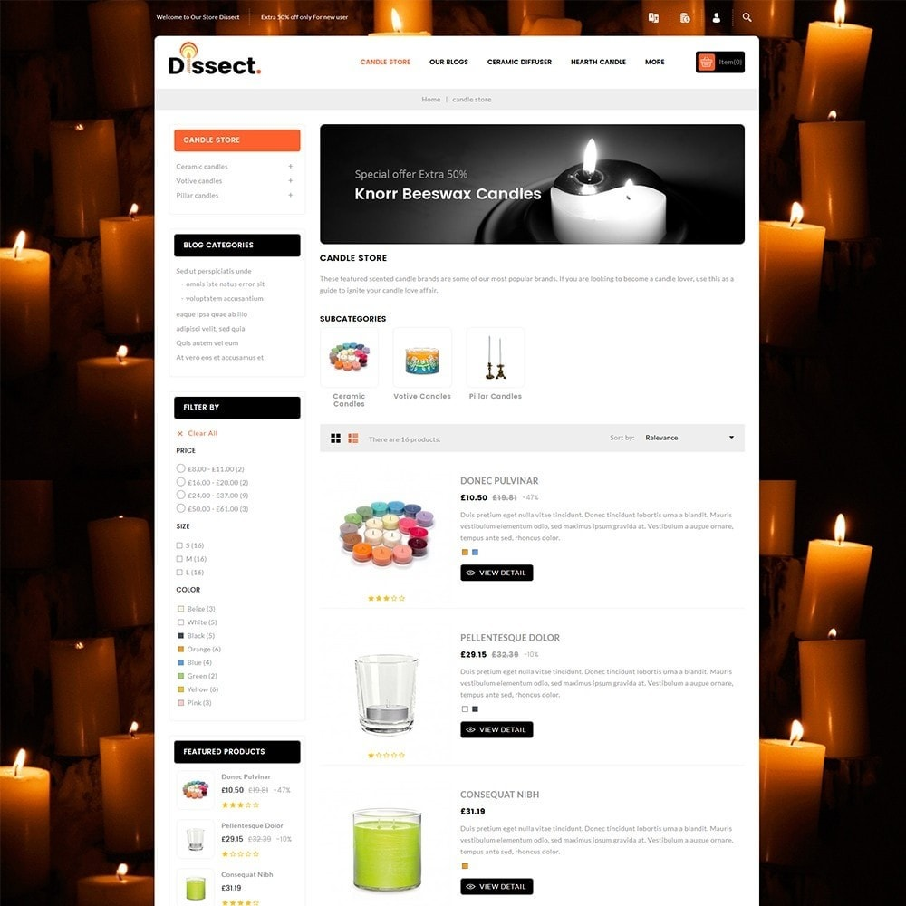 theme - Дом и сад - Dissect Candle Store - 5