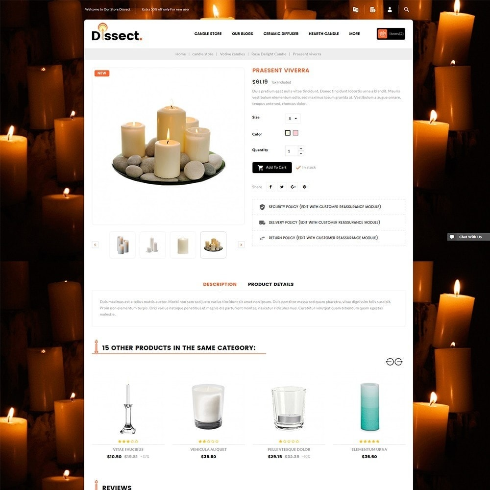 theme - Дом и сад - Dissect Candle Store - 6