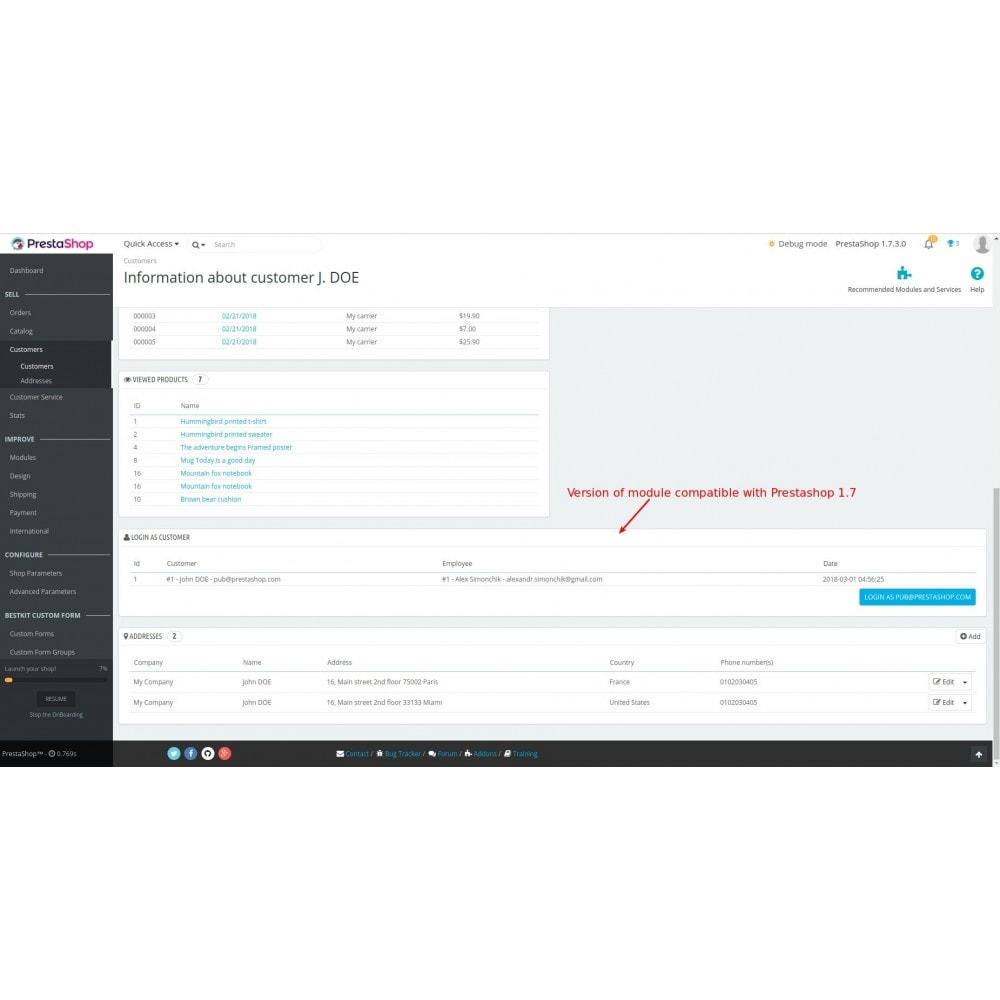 module - Seguridad y Accesos - Login as customer - 8