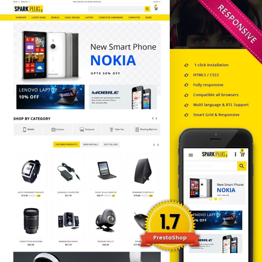 theme - Elettronica & High Tech - Sparkplug - Electronic Store - 1