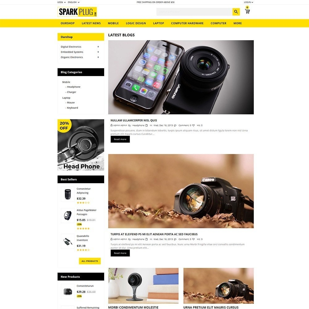 theme - Elettronica & High Tech - Sparkplug - Electronic Store - 7