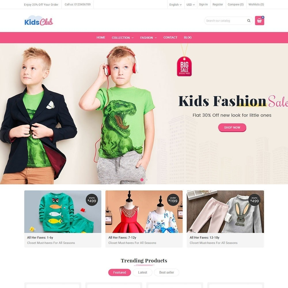 theme - Moda & Calzature - Kids Club Fashion Store - 2