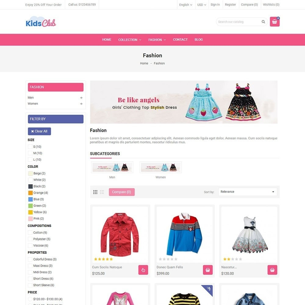 theme - Moda & Calzature - Kids Club Fashion Store - 3