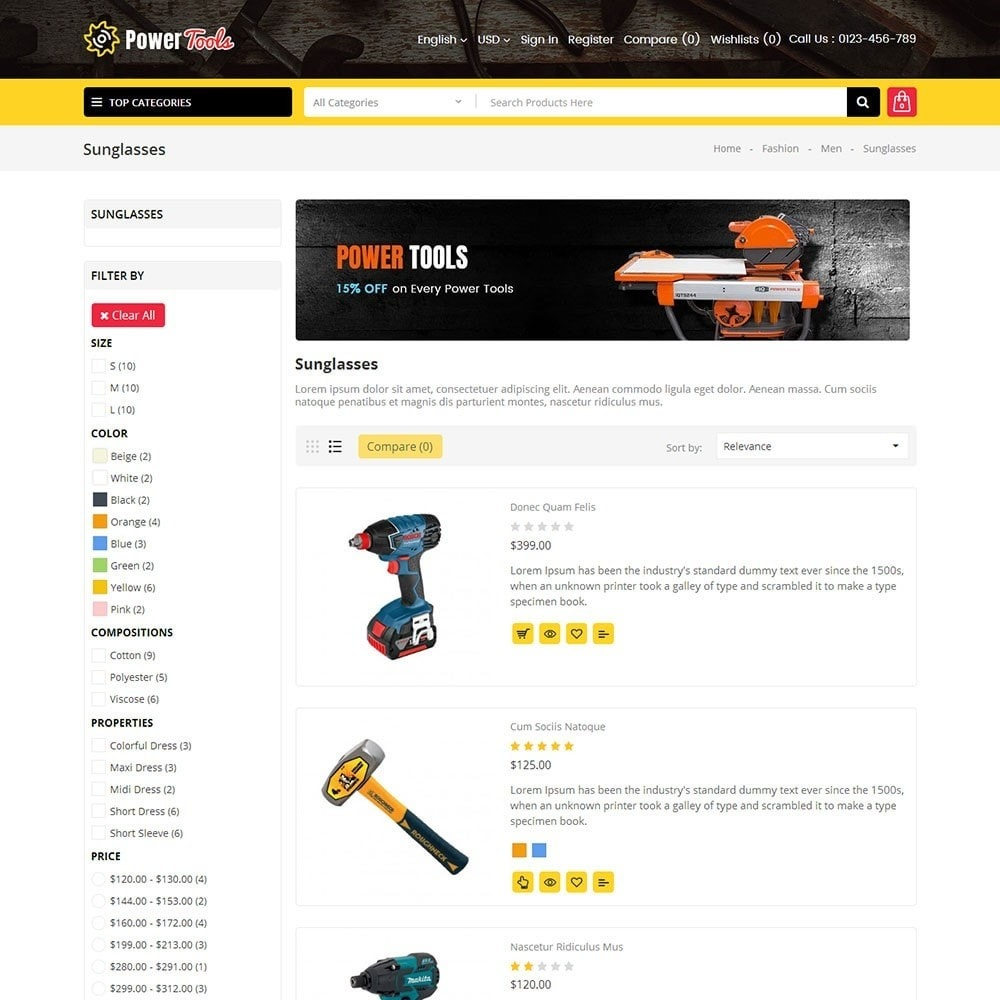 theme - Heim & Garten - Power Tools Store - 4