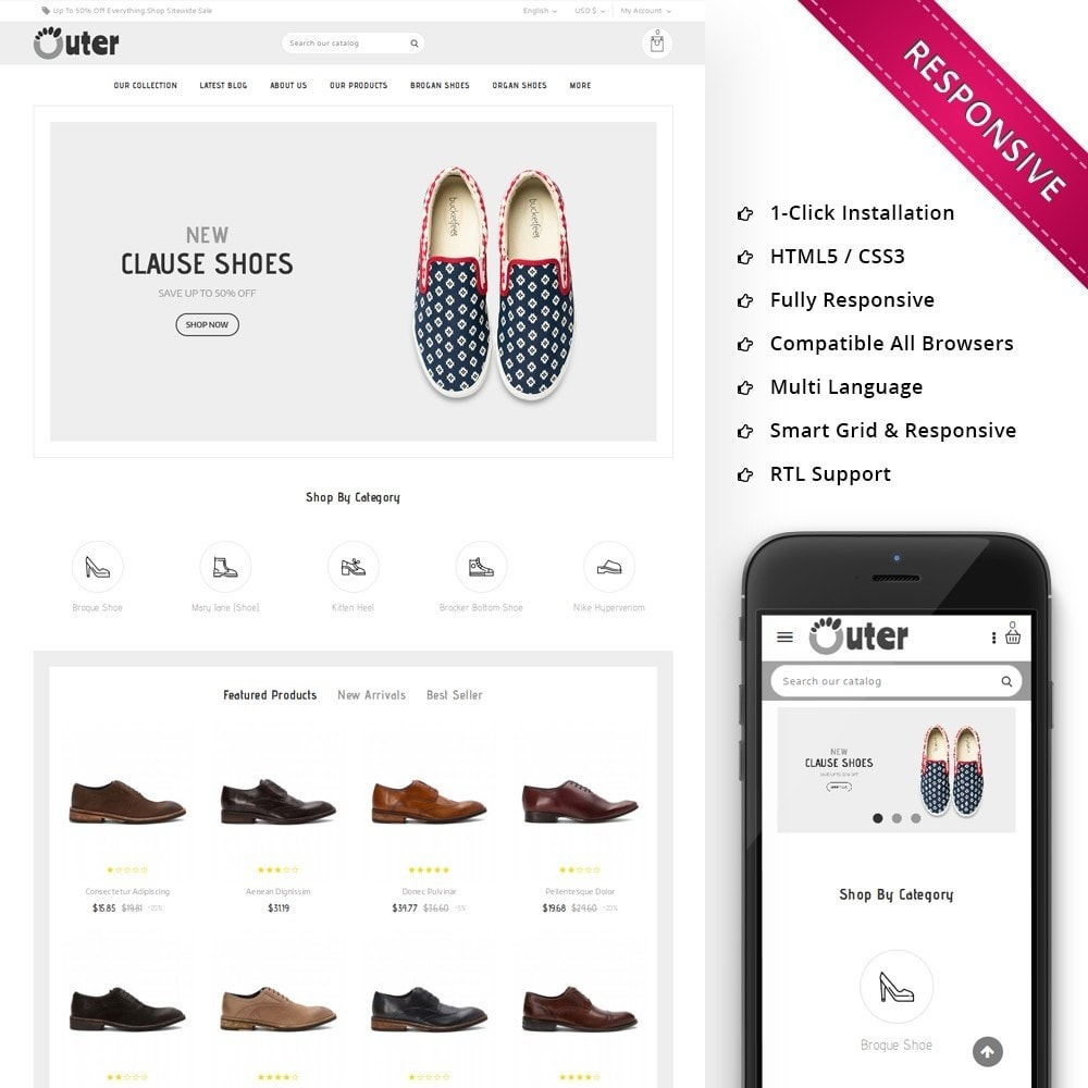 theme - Moda & Calçados - Outer - The Shoe Shop - 1