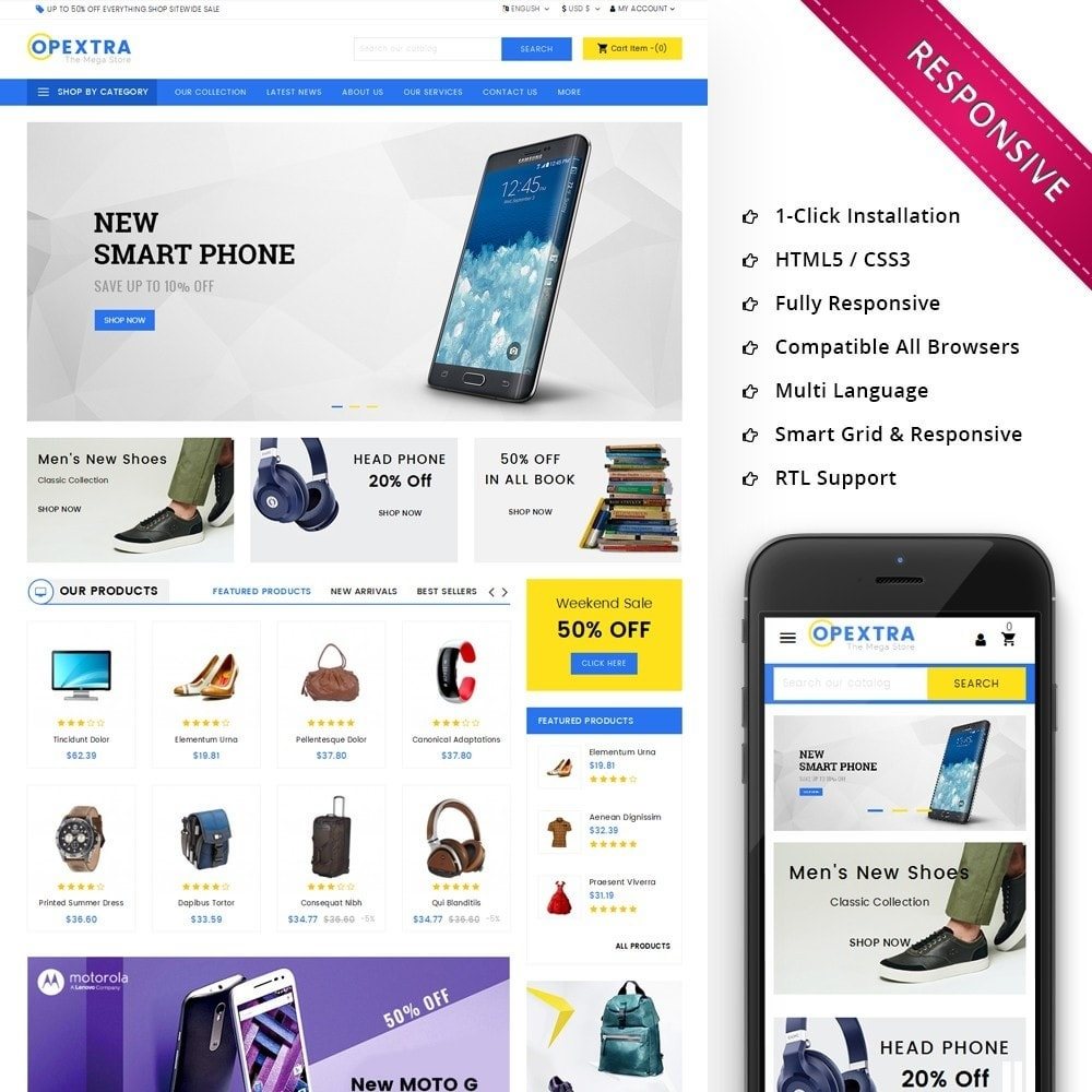 theme - Fashion & Shoes - Opextra Mega Store - 1
