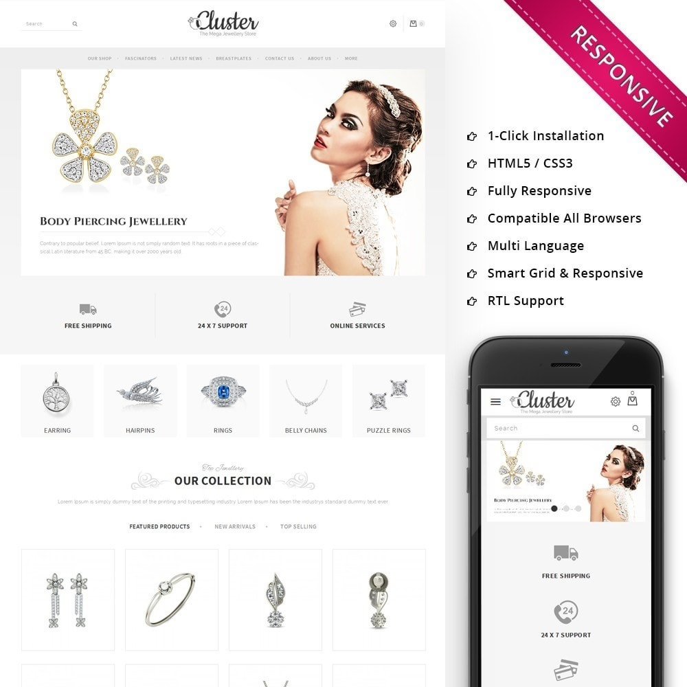 theme - Sieraden & Accessoires - Cluster Jewellery Store - 1