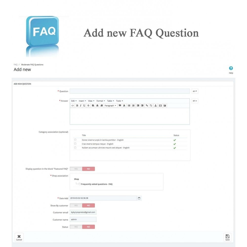 module - Preguntas Frecuentes - Frequently asked questions - FAQ - 23