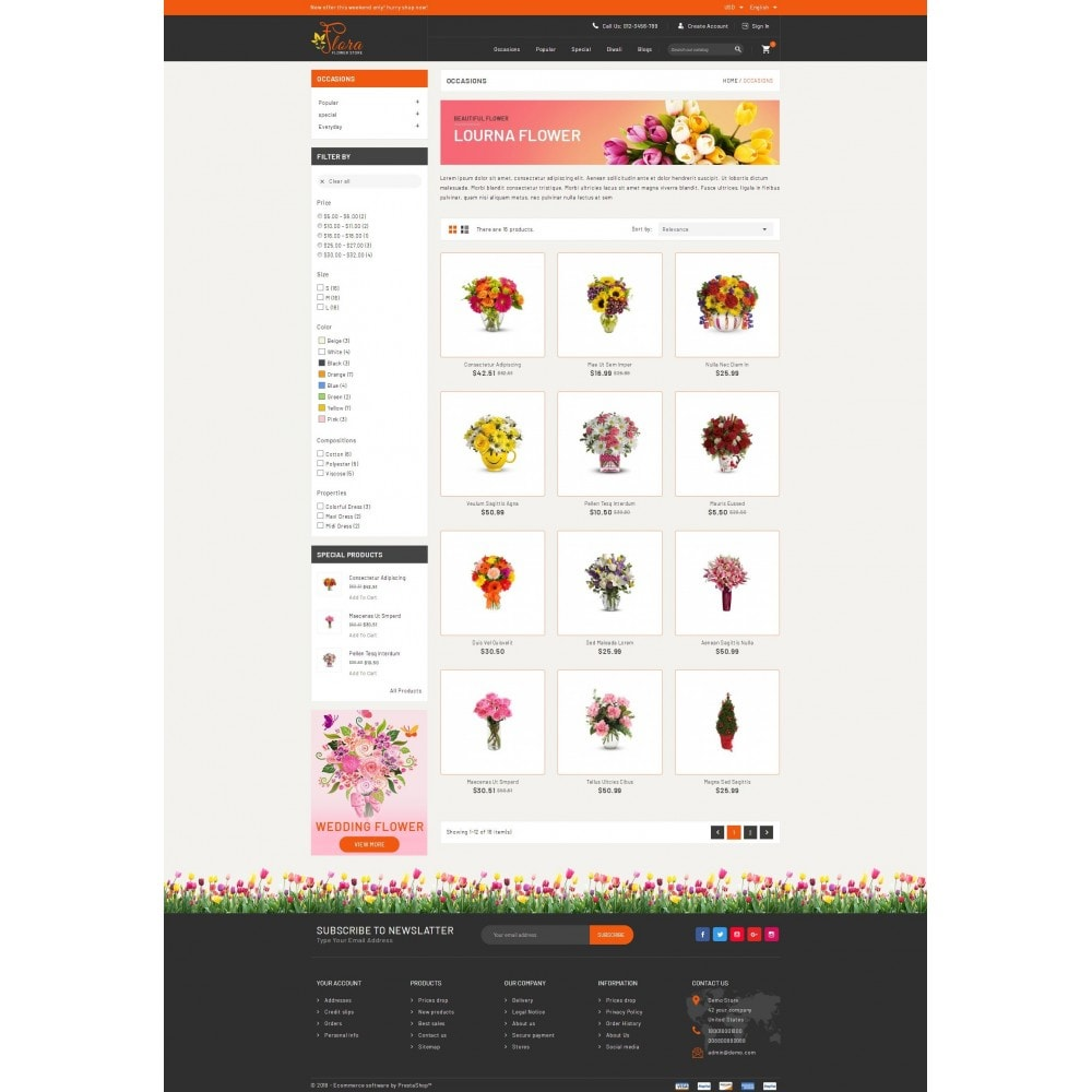 theme - Presentes, Flores & Comemorações - Flora - Flower Store - 3