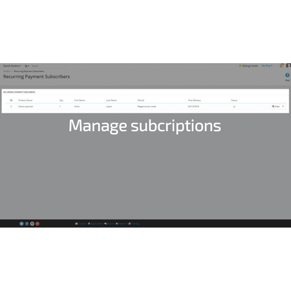 module - Abonnementzahlung - Recurring Payments and Subscriptions - 7