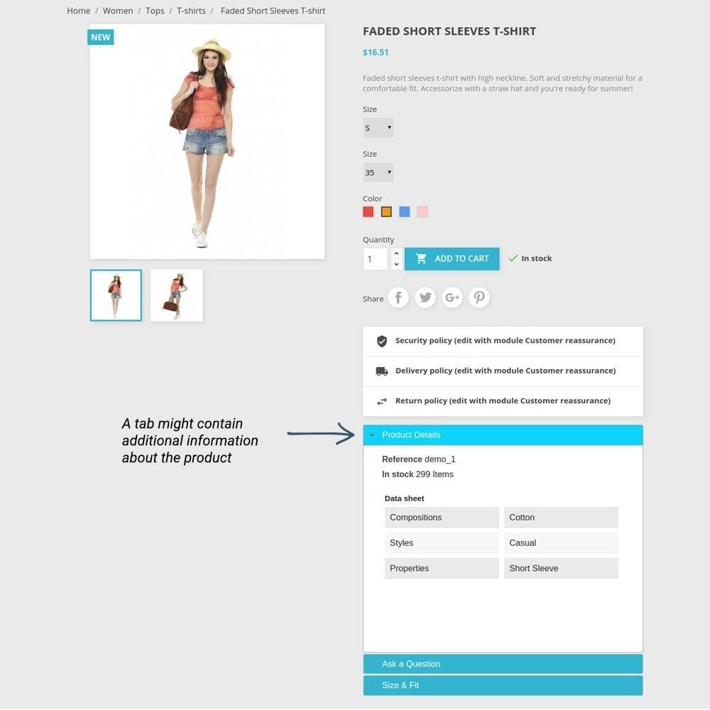 module - Altre informazioni & Product Tab - Product Tabs - 6
