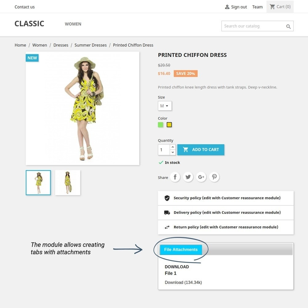 module - Additional Information & Product Tab - Product Tabs - 8
