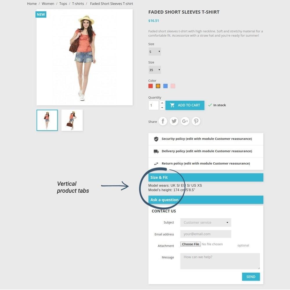 module - Informaciones adicionales y Pestañas - Product Tabs - 13