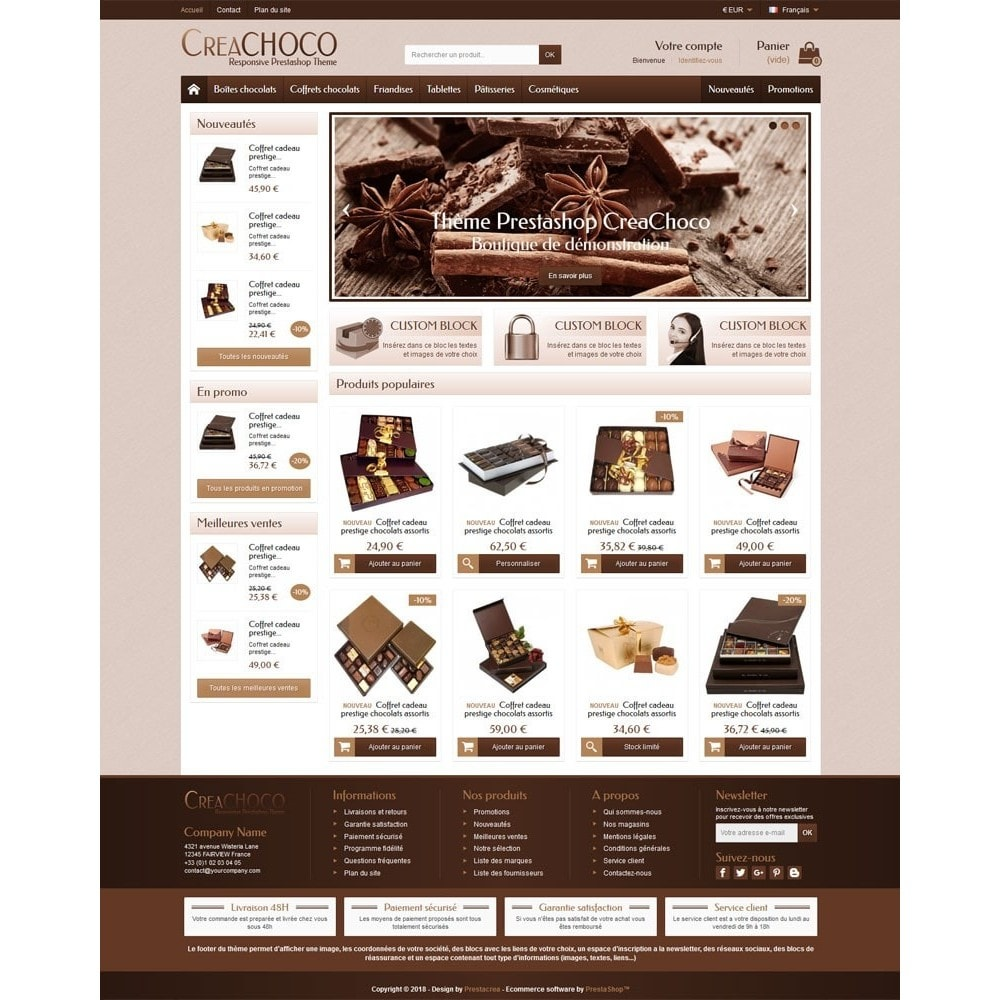 theme - Food & Restaurant - CreaChoco - 2