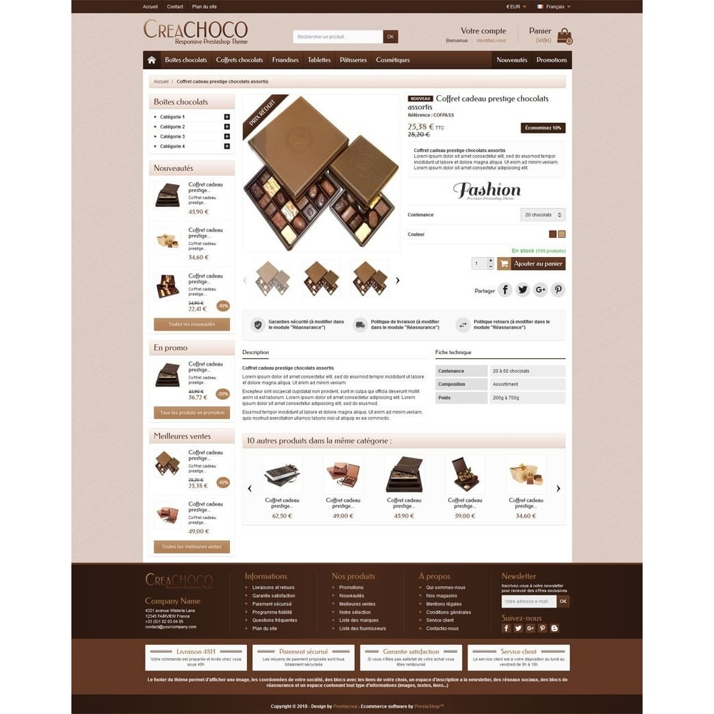 theme - Food & Restaurant - CreaChoco - 4