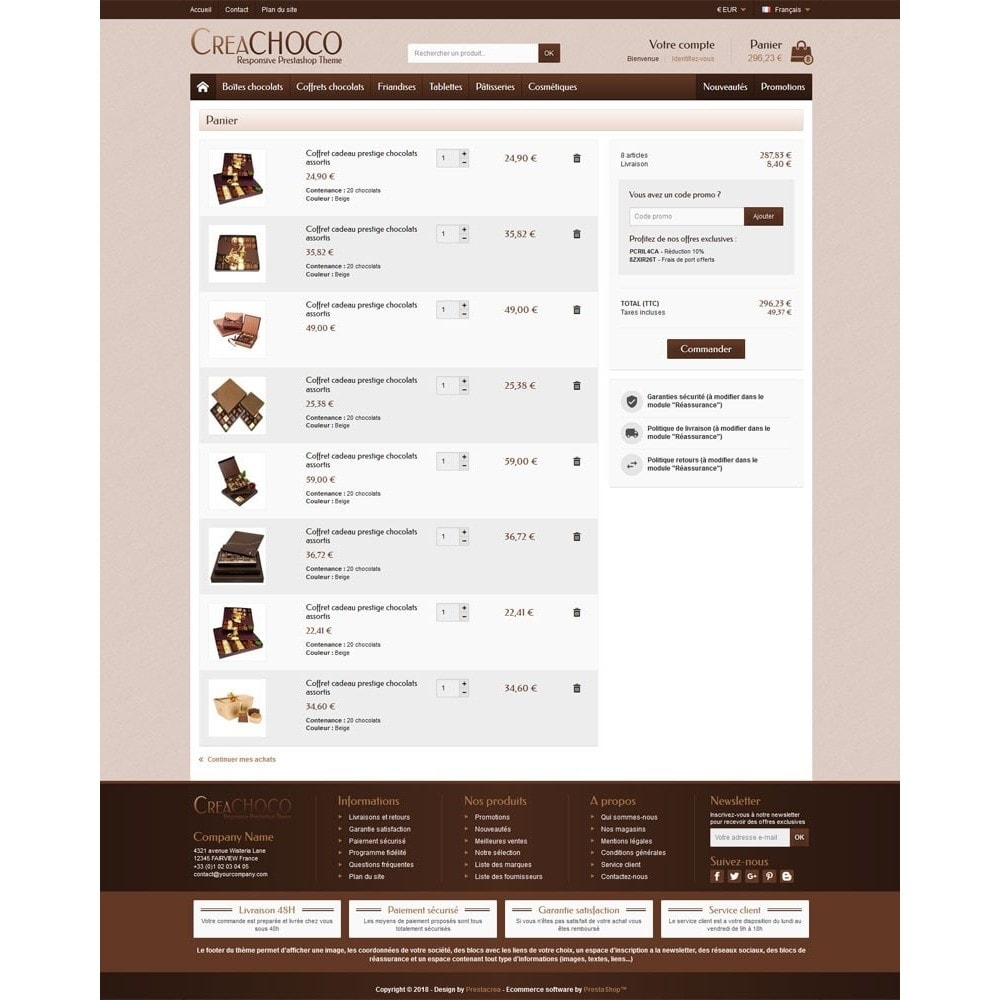 theme - Food & Restaurant - CreaChoco - 5