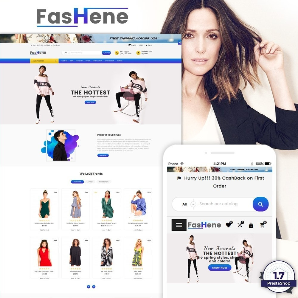 theme - Moda & Calçados - FasHene – Fashion Super Store v2 - 1