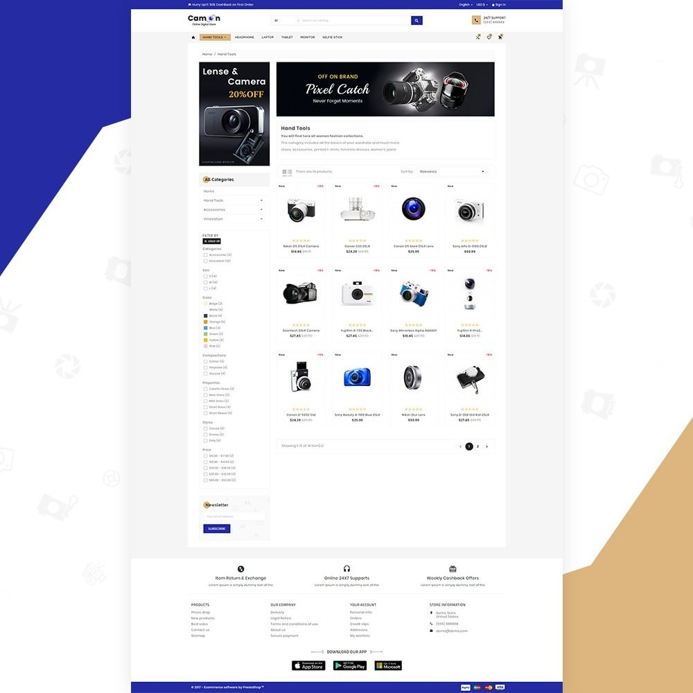 Camon – Electronices Super Store v3