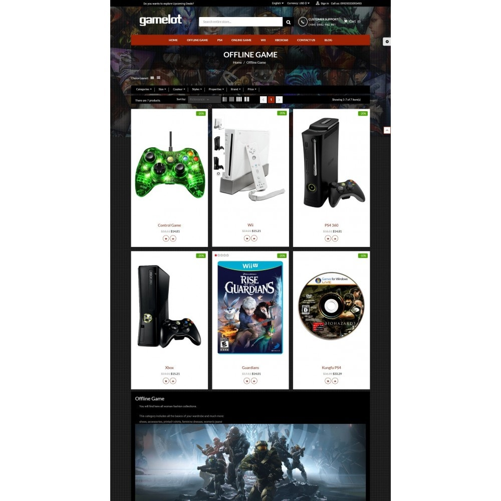 theme - Elektronika & High Tech - Games and Movies Store - 3