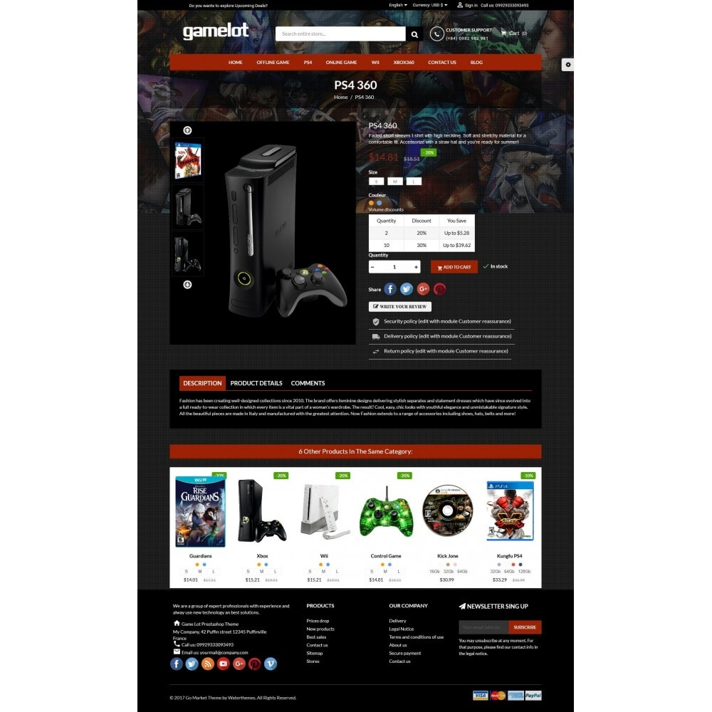 theme - Eletrônicos & High Tech - Games and Movies Store - 5