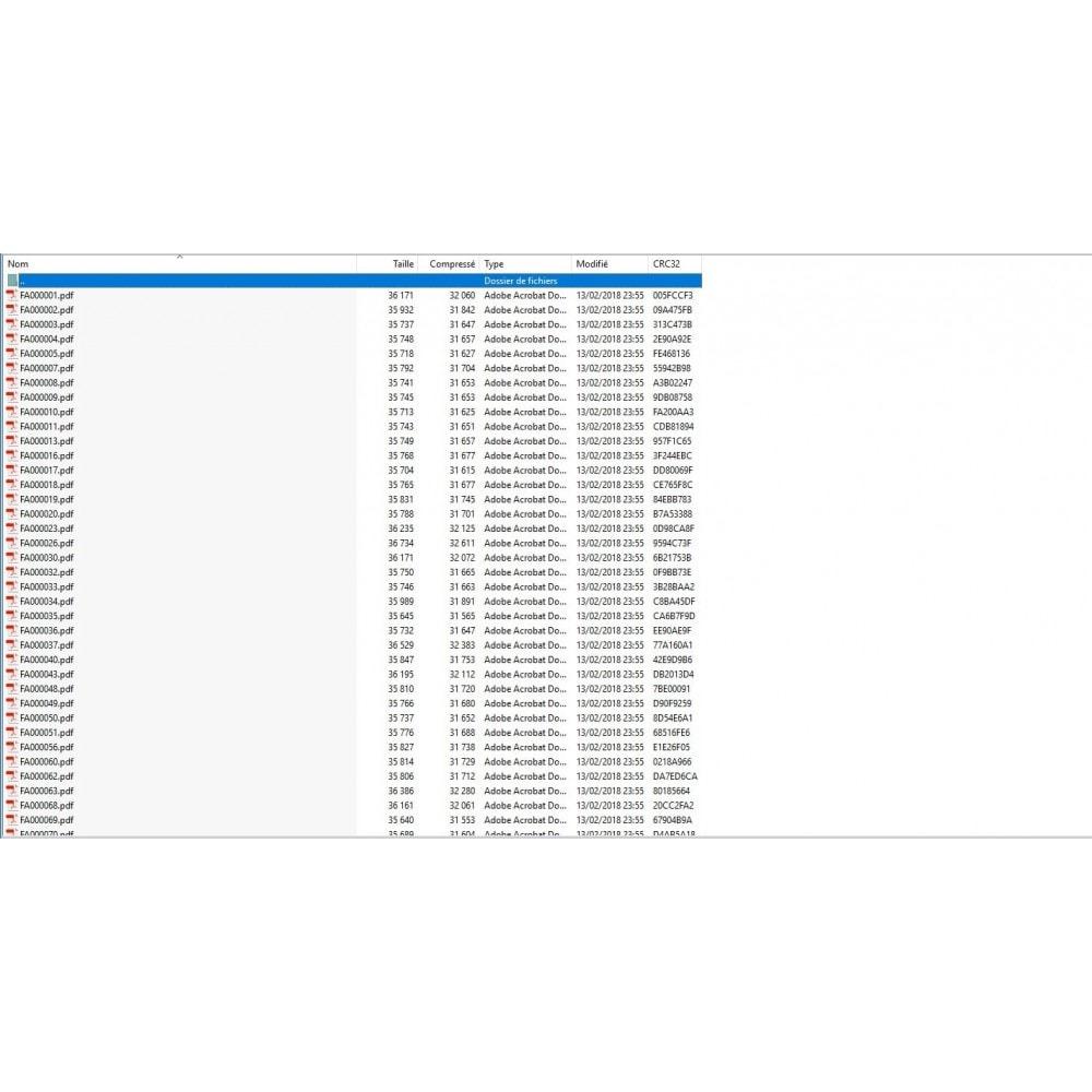 module - Boekhouding en fakturatie - Exporteer meerdere PDF-facturen / slip in ZIP-archief - 2