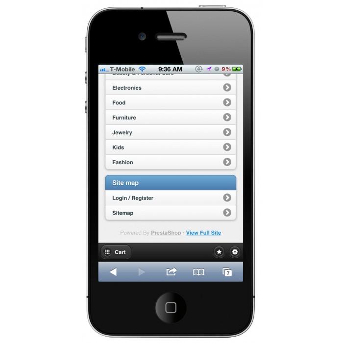 module - Mobile - PrestaShop Mobile Template - 3