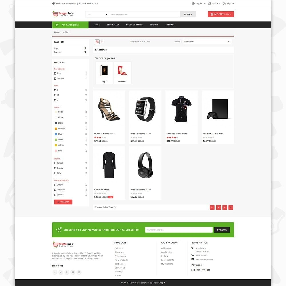 theme - Elektronica & High Tech - MegaSale - The Online Store - 3