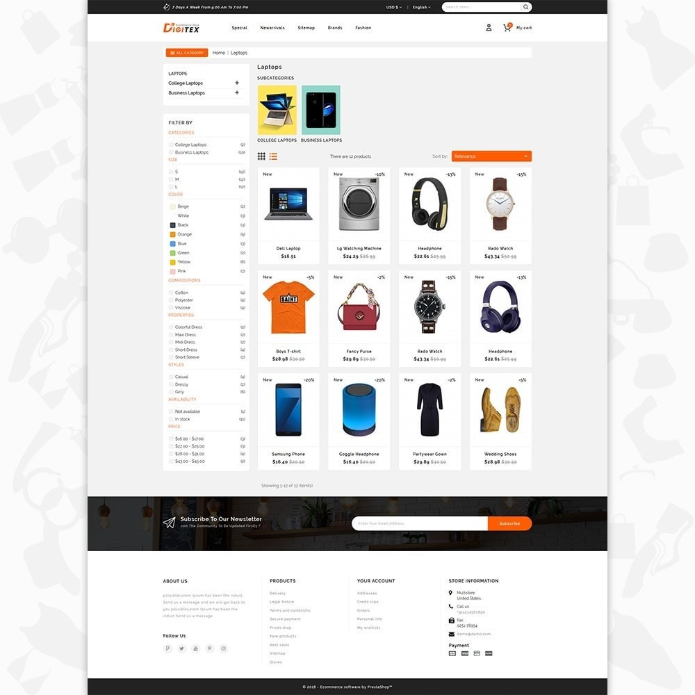 Digitex - The Ecommerce Shop