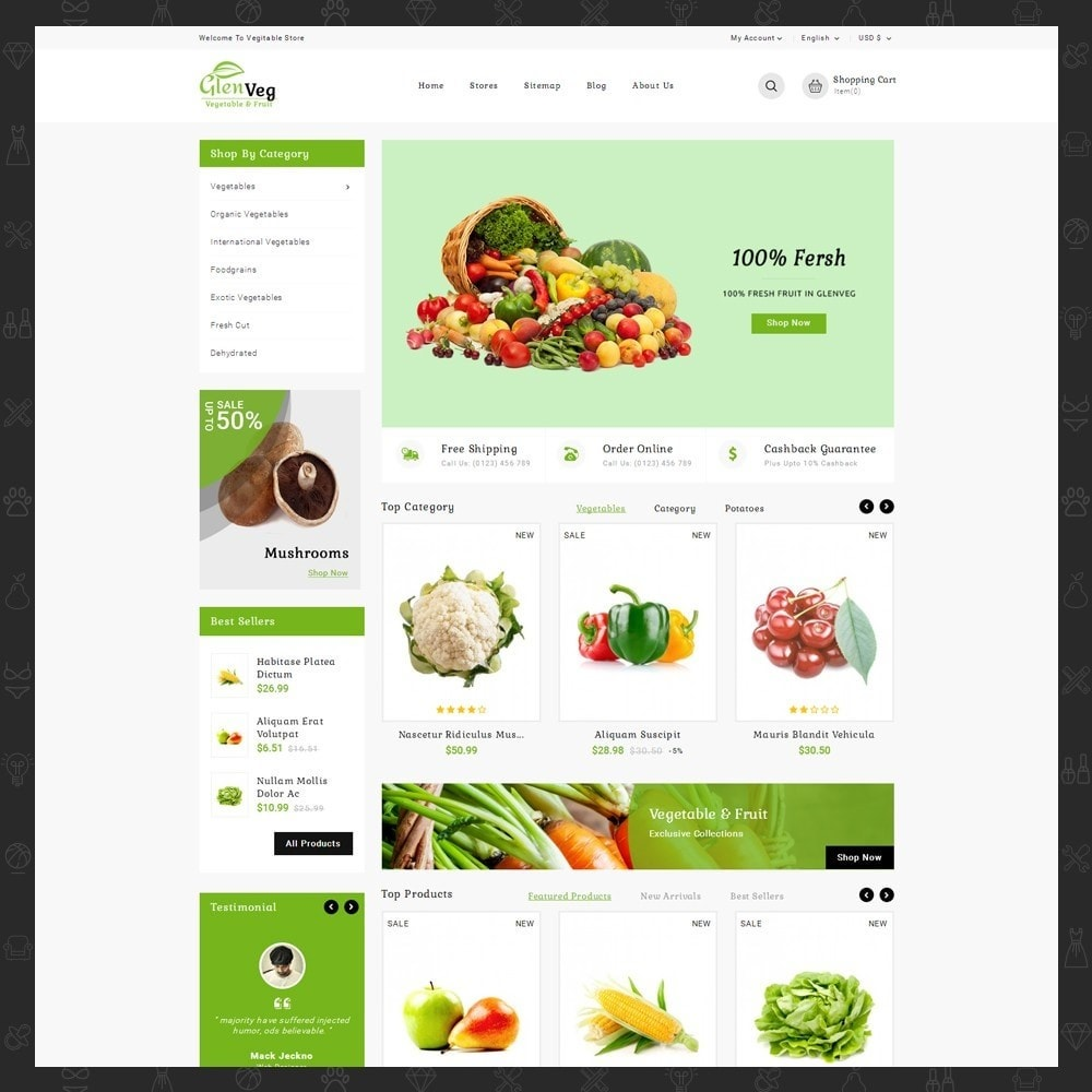 theme - Alimentation & Restauration - Glen Veg Store - 2