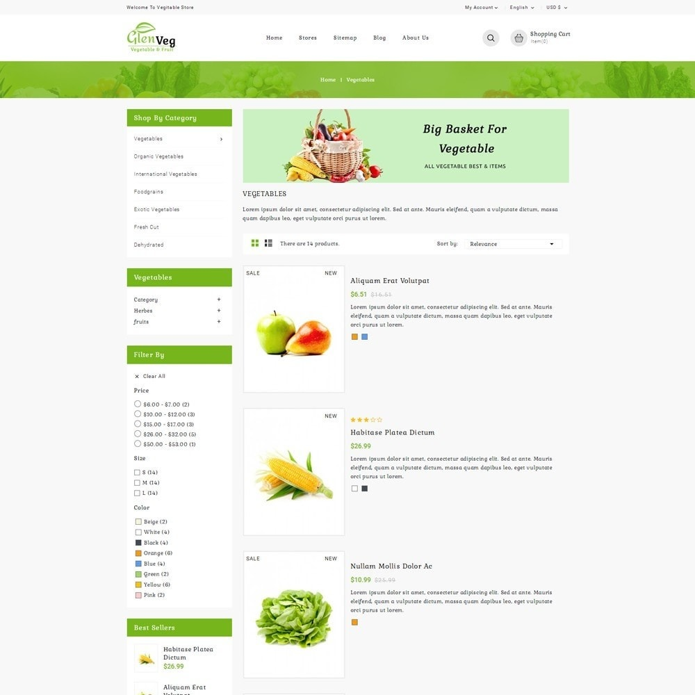 theme - Alimentation & Restauration - Glen Veg Store - 4