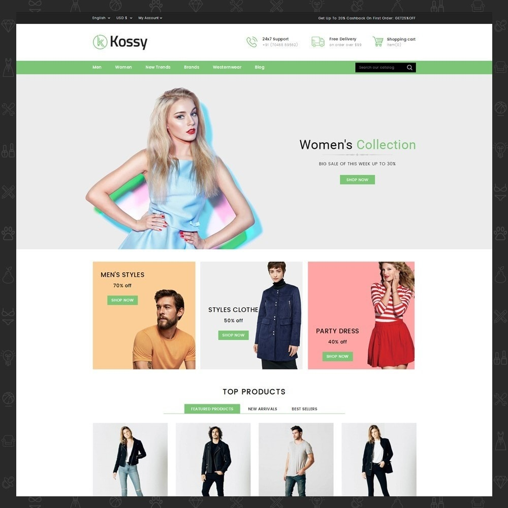 theme - Moda y Calzado - Kossy - Fashion Store - 2