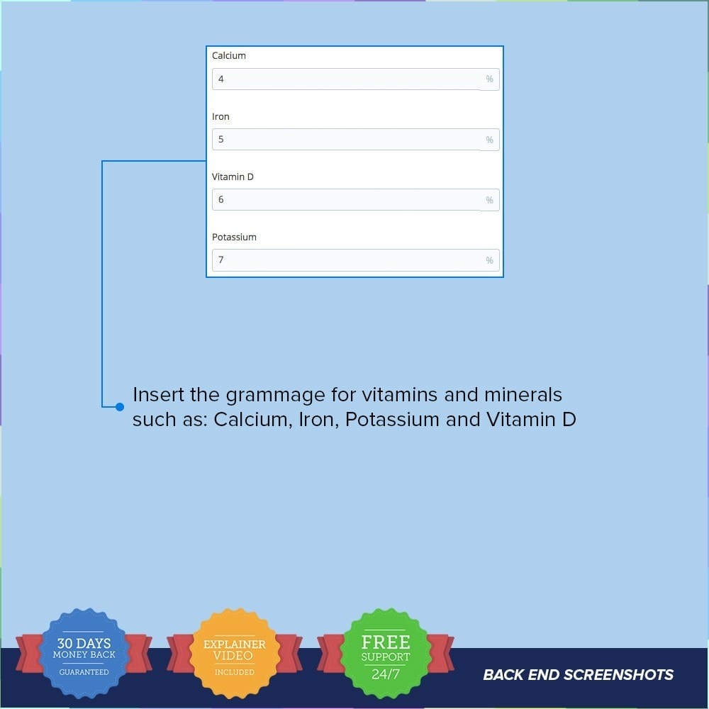 module - Altre informazioni & Product Tab - Product Nutritional Details - 7