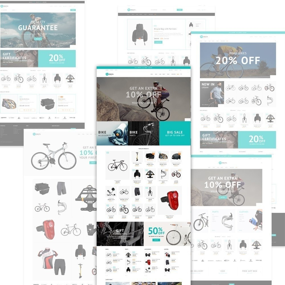 Impresta - шаблон для магазина велосипедов